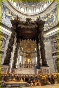 Baldachin at St. Peter's in Rome