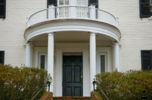 A Portico With Curved Elements