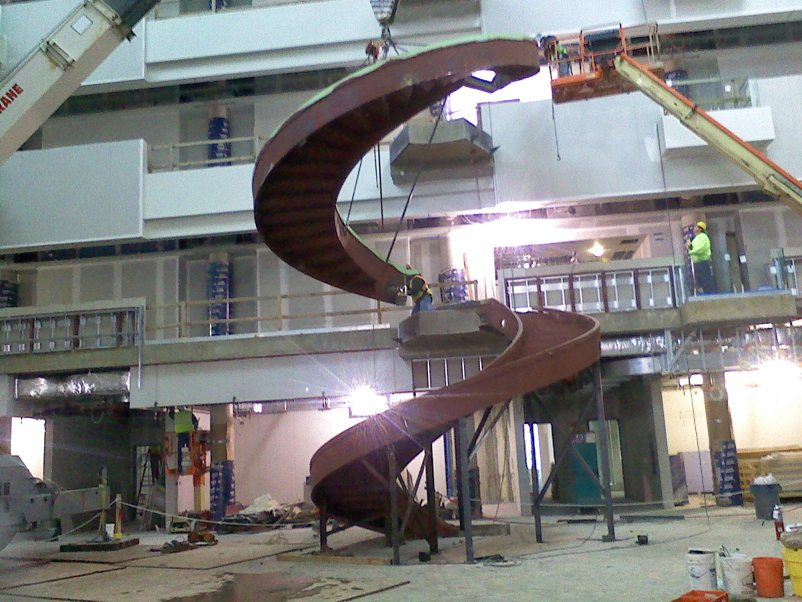 Curved Roof Supports Curved Pipe Bollards Circular Stairs