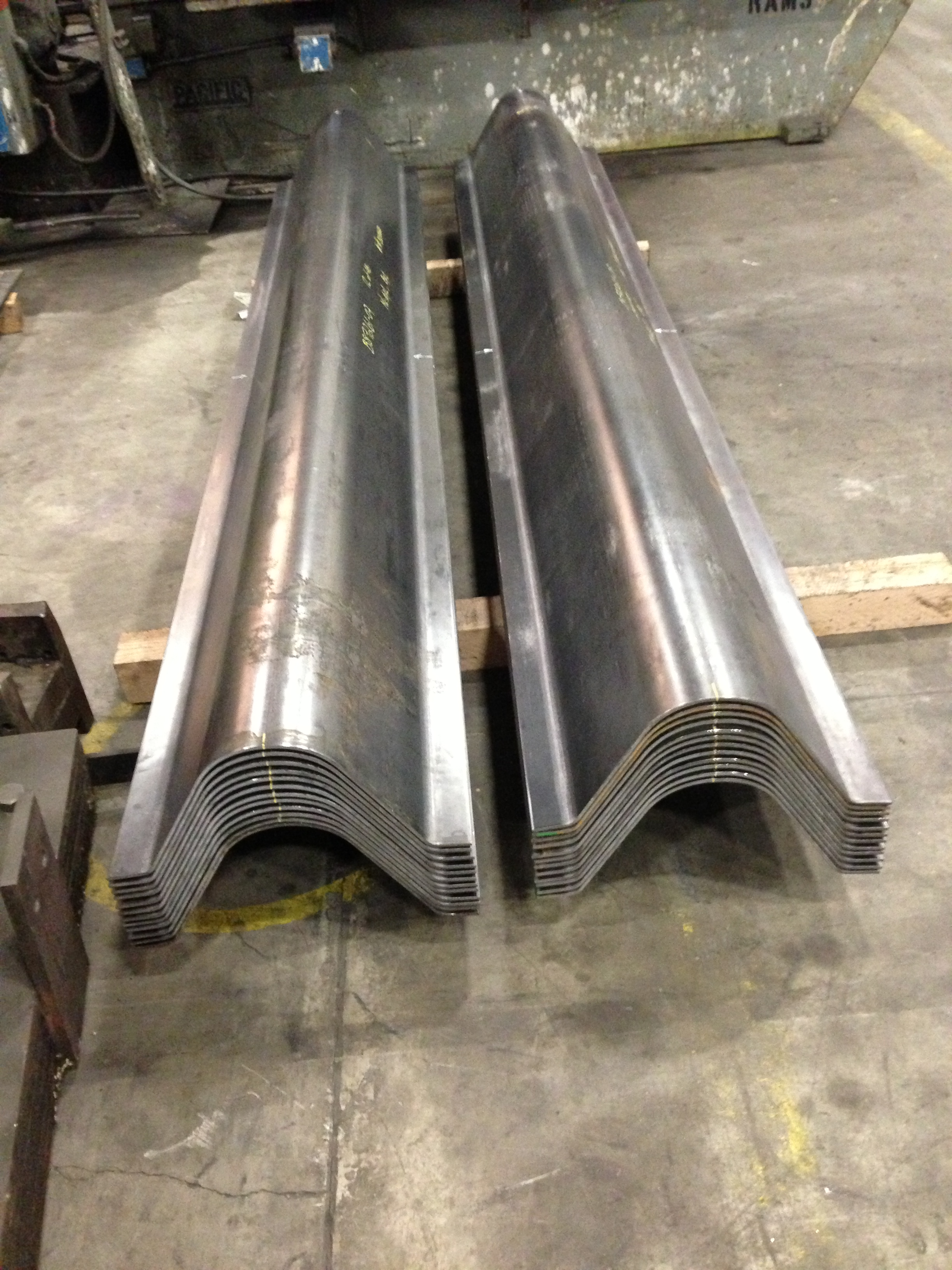 Press Brake Curved Steel Plate The Chicago Curve