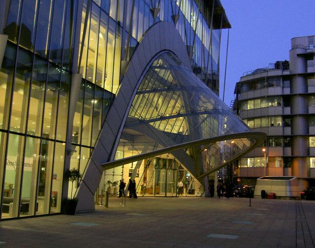 Modern House Entrance Canopy