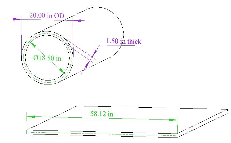 How To Develop The Blank Flat Length For A Cylinder The