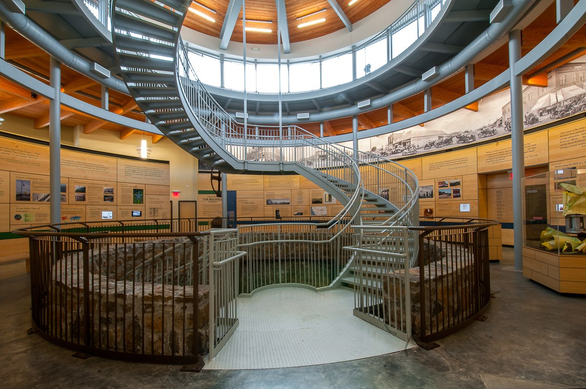 ... New Big Well Museum With Above Ground Spiral Stairs