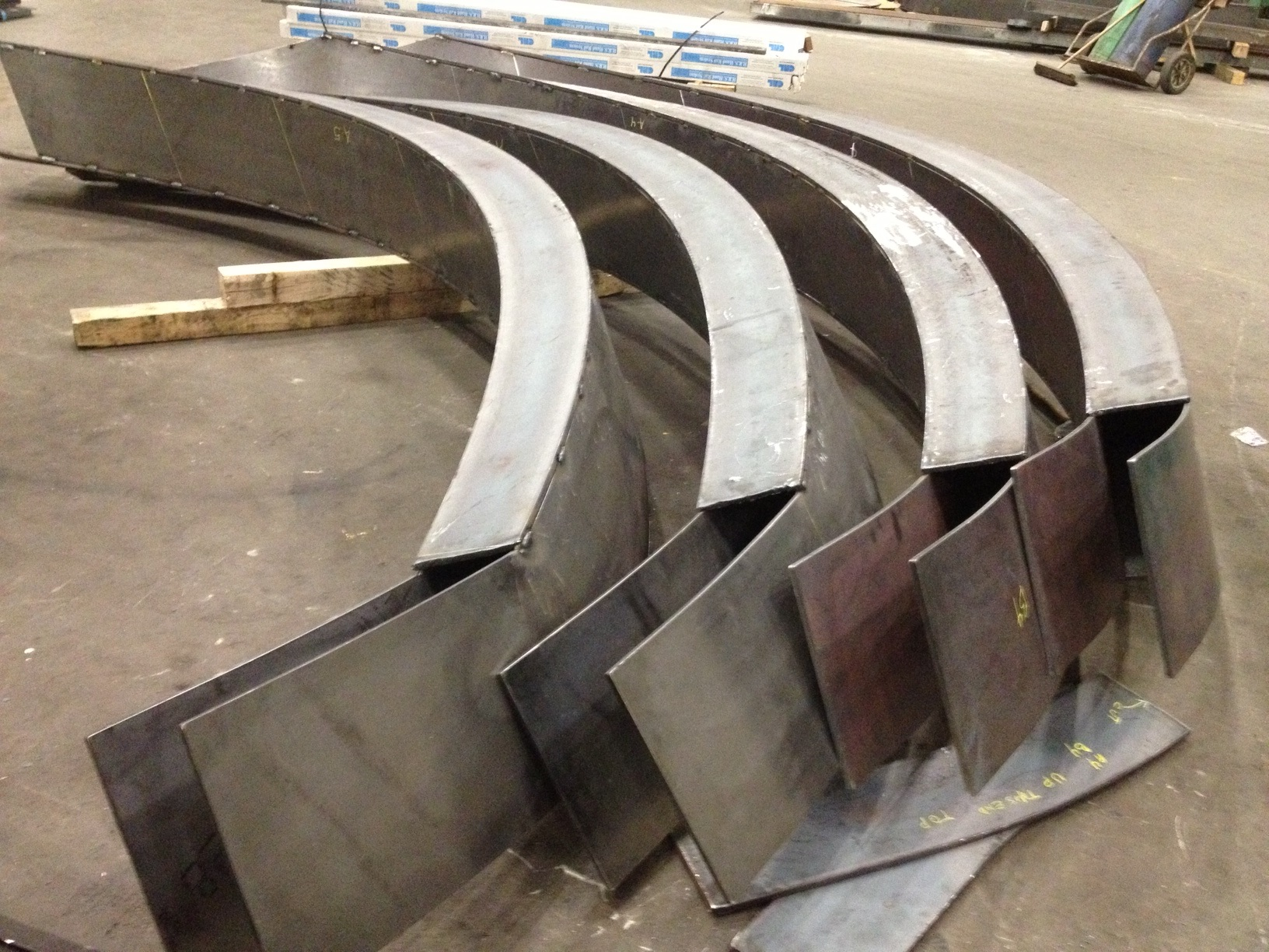 Box Plate Stringer For Circular Stairs Plate Stringers With Straight  Sections For Landings On Spiral Stairs