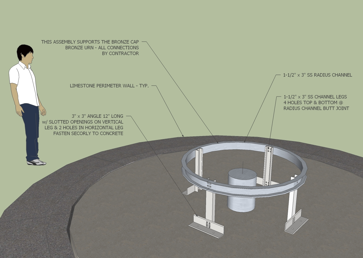 Bending the chicago curve part 11 conceptual drawing of curved 3in channel nvjuhfo Gallery