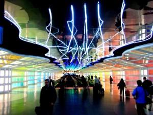 Curved Steel Tubes - Terminal C Walkway - O'Hare International Airport