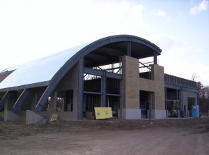 curved steel roof