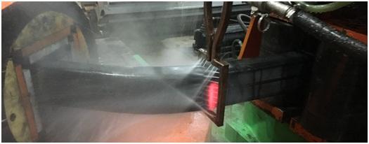 Heat Induction Bending of 5 X 3 X ¼ Rectangular Steel Tubes
