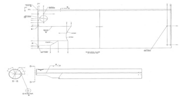 Drawing of Aluminum Sheet to be Rolled into Pipe with Cutouts at End