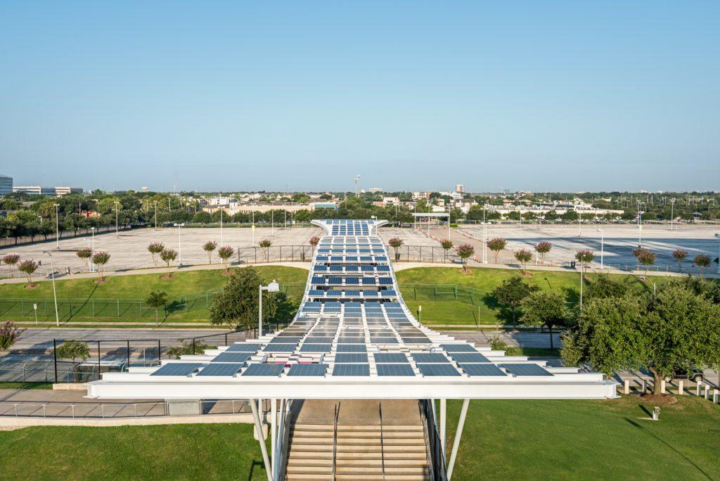 NRG Stadium Solar Canopy over Kirby Drive & NRG Stadium | Solar Canopies | The Chicago Curve