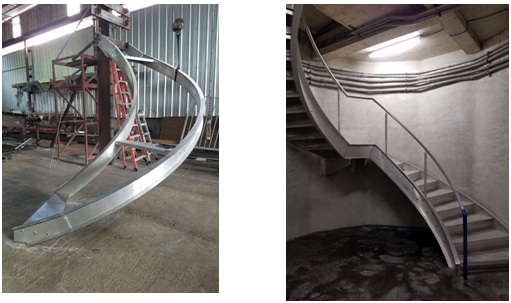 Aluminum Stair Stringers | Helical Staircase | The Chicago Curve