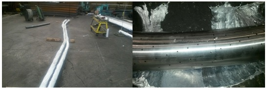 Curved Steel Pipe with Perforated Holes