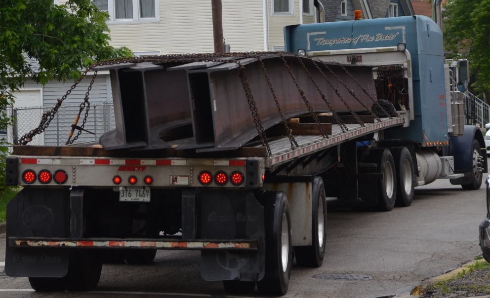 Loaded Flatbed Shipping