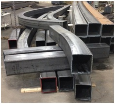 Curved Square Steel Tubing