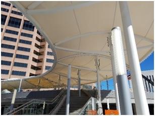 Denver Civic Center Station Steel Canopy