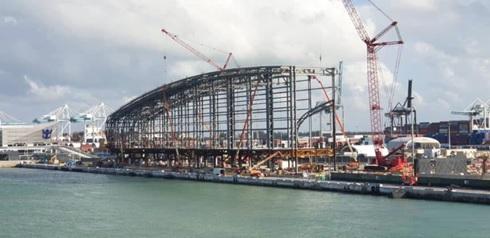 Port of Miami Norwegian Cruise Line Termianl Construction