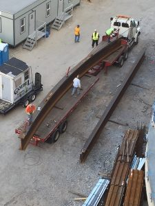 cambered structural steel beam